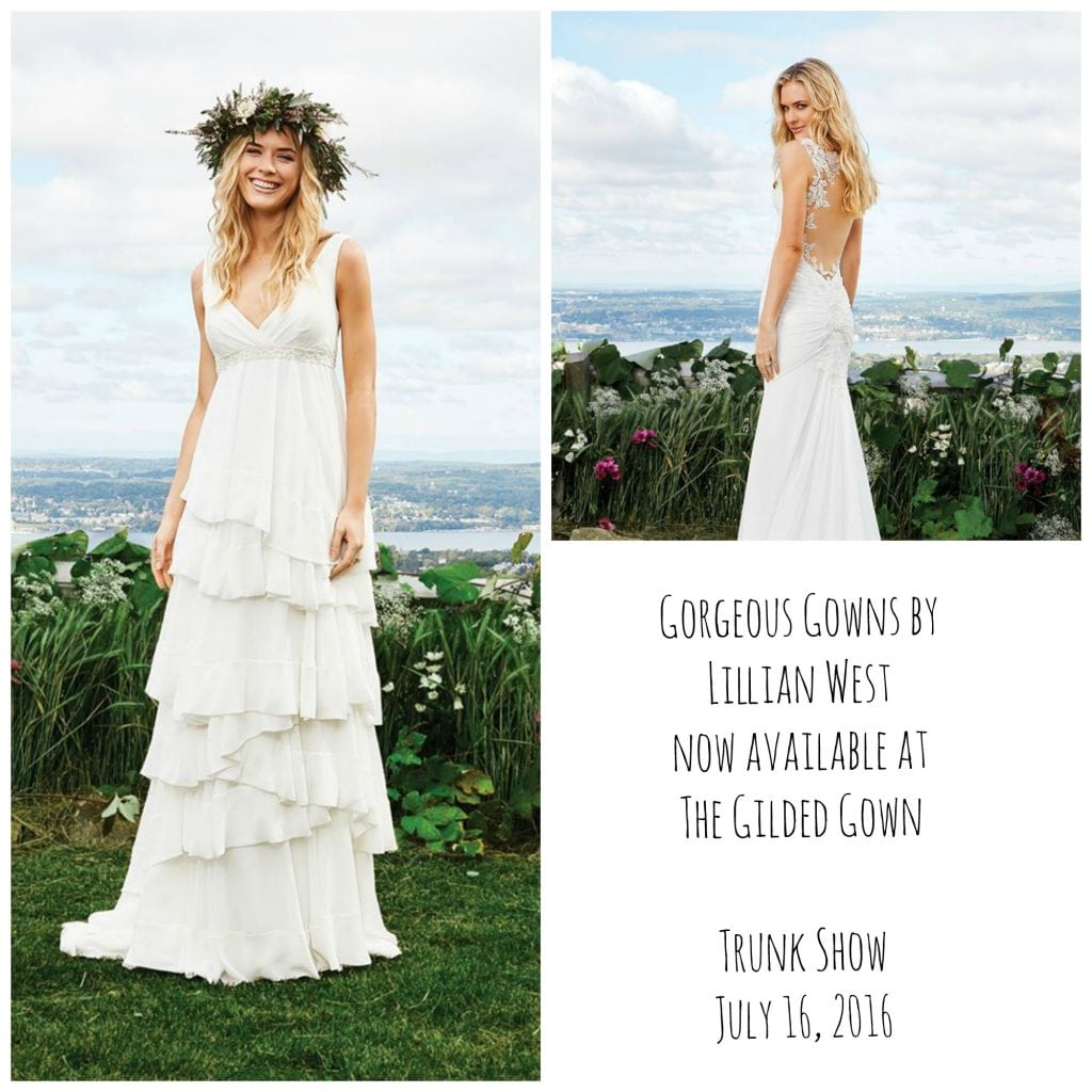 Introducing Bridal Designer Lillian West! Trunk Show July 16th at ...