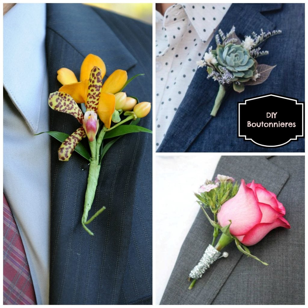 Save Money With An Easy Project For Your Wedding Diy Boutonnieres